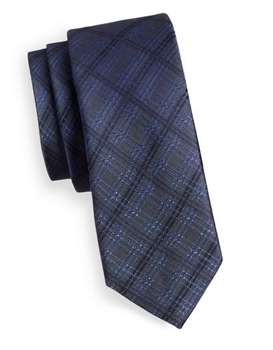 Kenneth Cole Reaction Reaction Silk Tie-CHARCOAL-One Size