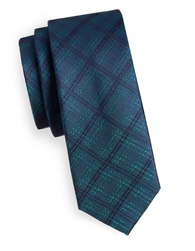 Kenneth Cole Reaction Reaction Silk Tie-TEAL-One Size