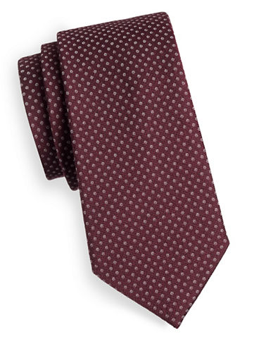 Michael Michael Kors Dot-Print Wool and Silk Tie-RED-One Size