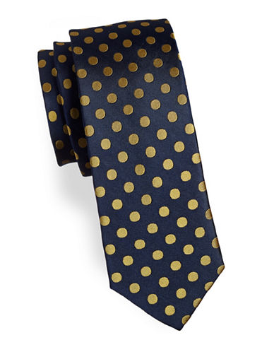 Tommy Hilfiger Spotted Silk Tie-BLUE-One Size
