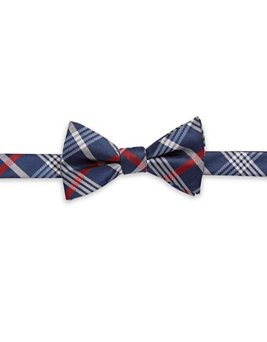 Bow Tie Tuesdays Pre-Tied Plaid Bow Tie-RED-One Size