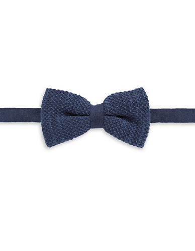 Bow Tie Tuesdays Pre-Tied Knit Bow Tie-NAVY-One Size