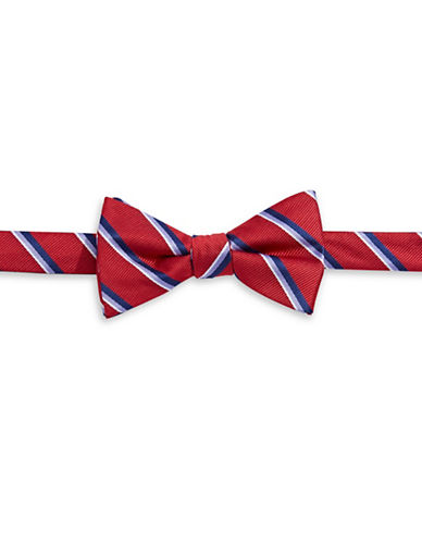 Bow Tie Tuesdays Pre-Tied Striped Bow Tie-RED-One Size