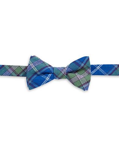 Bow Tie Tuesdays Pre-Tied Tartan Plaid Bow Tie-BLUE-One Size