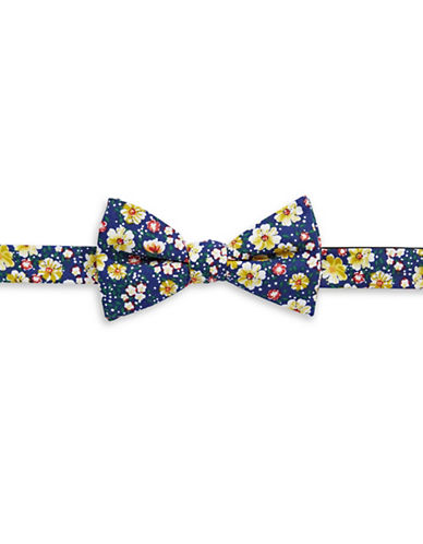 Bow Tie Tuesdays Pre-Tied Floral Bow Tie-NAVY/YELLOW-One Size