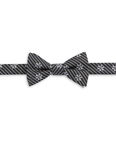 Bow Tie Tuesdays Pre-Tied Snowflake Bow Tie-BLACK-One Size