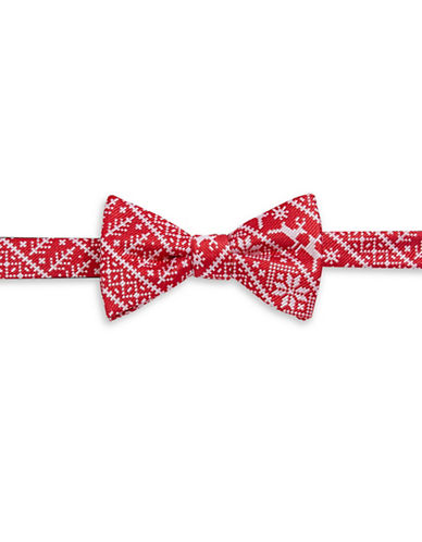 Bow Tie Tuesdays Pre-Tied Textured Holiday Bow Tie-RED-One Size