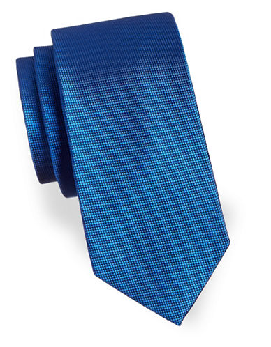 Izod Solid Textured Silk Tie-ROYAL BLUE-One Size