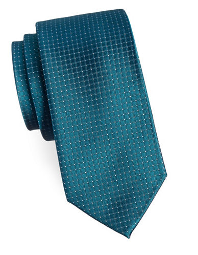 Arrow Micro Dotted Silk Tie-GREEN-One Size