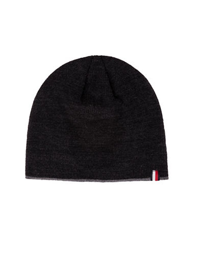 Tommy Hilfiger Fleece-Lined Tipped Beanie-CHARCOAL-One Size