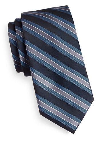 Arrow Stripe Tie-BLUE-One Size