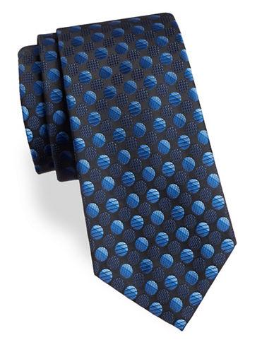 Arrow Dot Silk Tie-BLUE-One Size