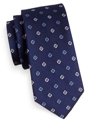 Tommy Hilfiger Floral Silk Tie-NAVY-One Size