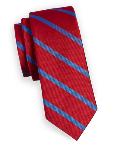Tommy Hilfiger Diagonal Silk Tie-RED-One Size