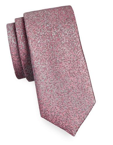 Calvin Klein Pixelated Silk Tie-BERRY-One Size