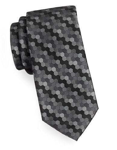 Arrow Geo Hexagon Tie-GREY-One Size