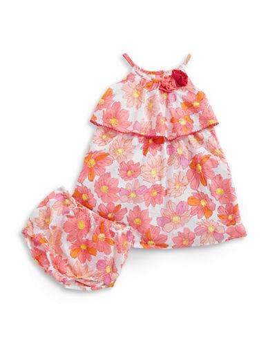 Penelope Mack Popover Floral Dress-PINK-12 Months