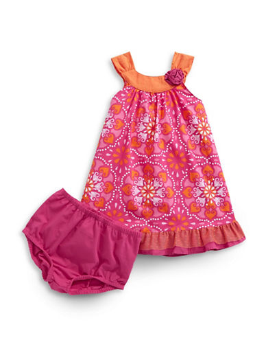 Penelope Mack Mandala Swing Dress-PINK-18 Months