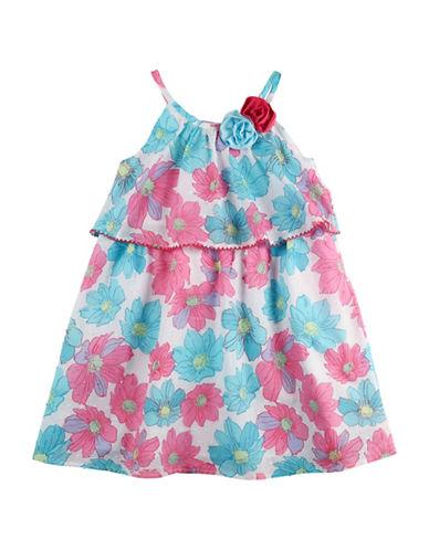 Penelope Mack Popover Floral Flounce Dress-PINK-2T