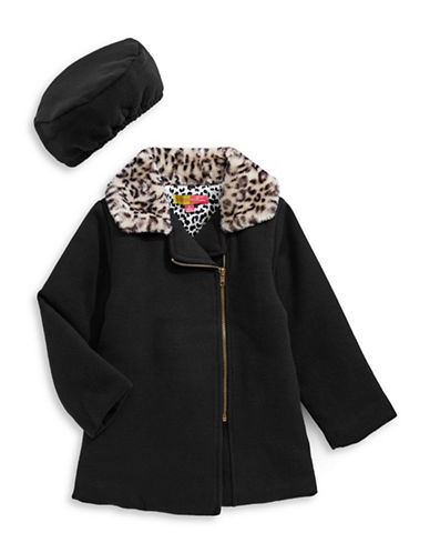 Penelope Mack Leopard Collar Coat and Beret-BLACK-6