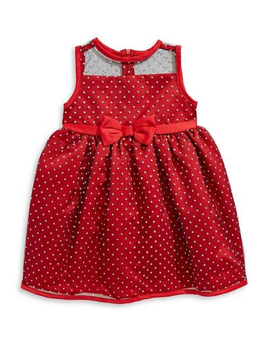 Penelope Mack Polka Dot Dress-RED-24 Months