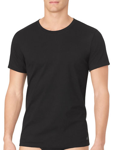 Calvin Klein Three-Pack Cotton T-Shirts-BLACK-X-Large