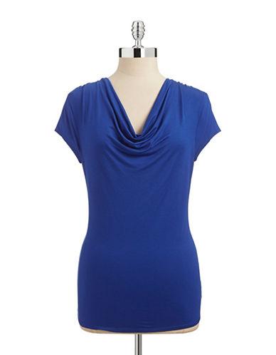 Calvin Klein Cowl Neck Sleepwear Top-BLUE-Medium 87640500_BLUE_Medium