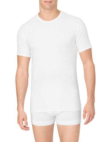Calvin Klein Cotton Stretch Crew-Neck T-Shirt 2-Pack-WHITE-Large