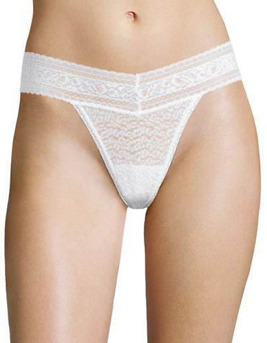 Calvin Klein Stretch Lace Thong-WHITE-Large
