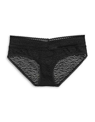 Calvin Klein Stretch Lace Hipsters-BLACK-Large