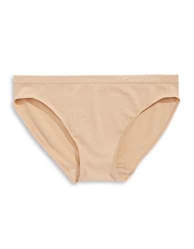 Calvin Klein Seamless Bikini-Fit Briefs-BARE-Medium