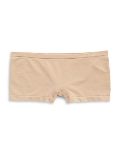 Calvin Klein Pure Seamless Boyshort Briefs-BARE-Small