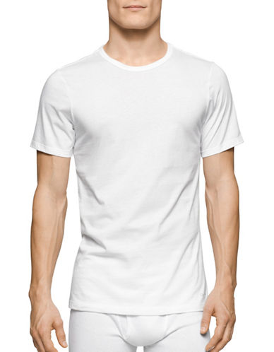 Calvin Klein Three-Pack Slim-Fit Crew Neck T-Shirts-WHITE-X-Large