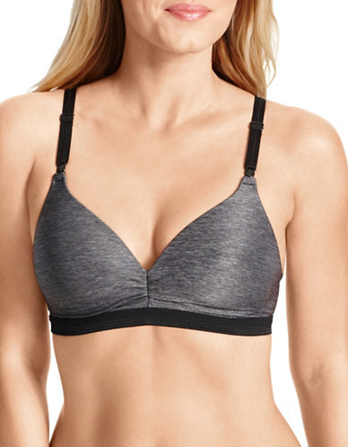 WarnerS Play It Cool Wire Free Bra-DARK GREY-34B