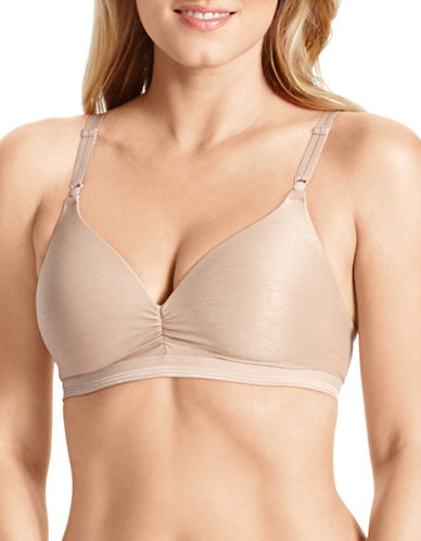 WarnerS Play It Cool Wire Free Bra-BEIGE-34B