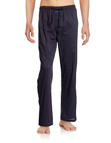 Calvin Klein Printed Cotton Sleep Pants-BLUE-Medium 88311290_BLUE_Medium