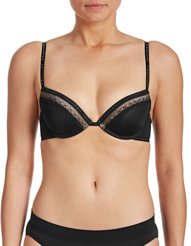 Calvin Klein Signature Lace Flirty Push-Up Bra-BLACK-36B