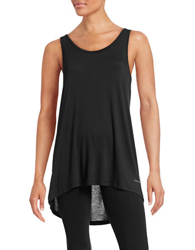 Calvin Klein Sleeveless Relax-Fit Tank Top-BLACK-Small 88648693_BLACK_Small