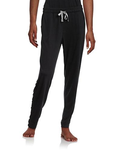 Calvin Klein Drawstring Waist Sleep Pants-BLACK-Large 88209586_BLACK_Large
