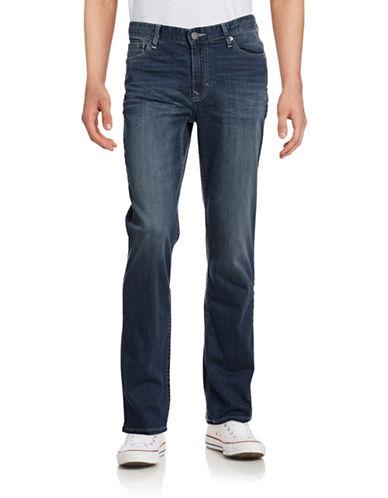 Calvin Klein Jeans Straight-Leg Jeans-BLUE-36X32