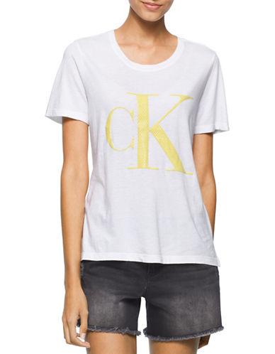 Calvin Klein Jeans Classic Gel Logo T-Shirt-WHITE-Small 88305388_WHITE_Small