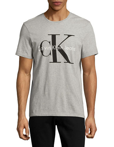 Calvin Klein Jeans CK Jeans Logo T-Shirt-GREY-Medium 89089596_GREY_Medium
