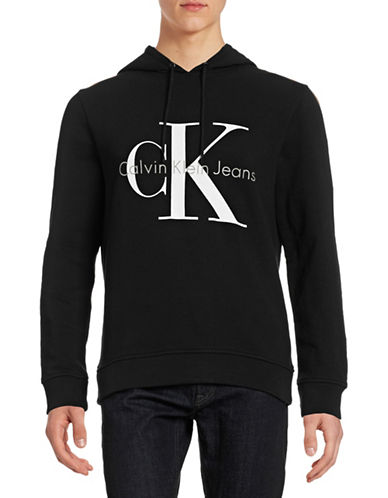 Calvin Klein Jeans CK Jeans Logo Hoodie-BLACK-Small 88252956_BLACK_Small