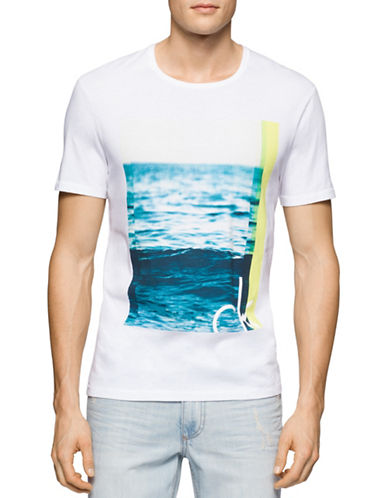 Calvin Klein Jeans The Wave Graphic T-Shirt-WHITE-Small 88431049_WHITE_Small