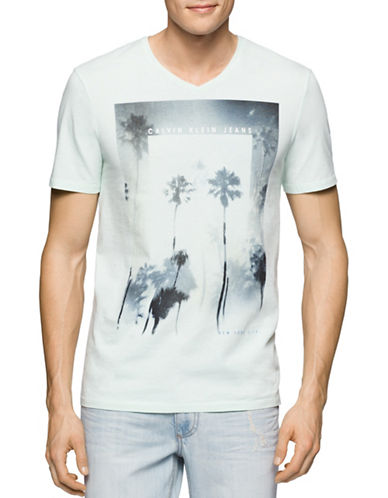Calvin Klein Jeans Palm Trees T-Shirt-BLUE-Small 88431057_BLUE_Small