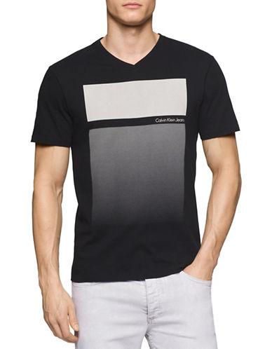 Calvin Klein Jeans Gradient Blocks T-Shirt-BLACK-X-Large 88431064_BLACK_X-Large