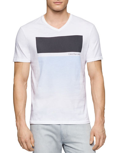 Calvin Klein Jeans Gradient Blocks T-Shirt-WHITE-Large 88431067_WHITE_Large