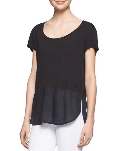 Calvin Klein Jeans Mixed Media T-Shirt-BLACK-Large 88529419_BLACK_Large