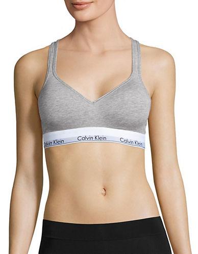 Calvin Klein Crisscross Strap Padded Bralette-GREY-Medium