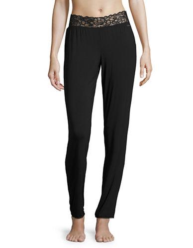 Calvin Klein Lace Trim Sleep Pants-BLACK-Large 89192962_BLACK_Large